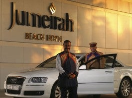 Concierges at the Jumeirah Beach Hotel