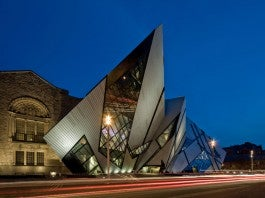 A VIEW OF THE ROYAL ONTARIO MUSEUM 'S MICHAEL LEE -CHIN CRYSTAL © ROYAL ONTARIO MUSEUM . CRE DIT : SAM JAVANROUH , 2009
