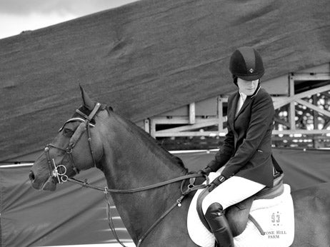 Horse Rider in Black and White