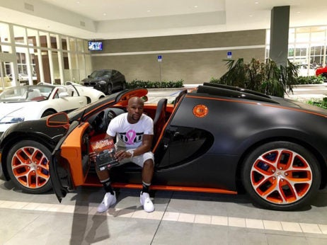 Floyd Mayweather JR - The highest profile buggati veyron owners