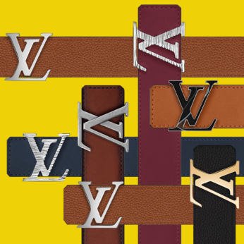 Selection of customised My LV Belts